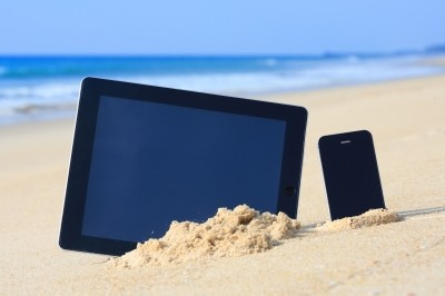 Mobilni na plaži