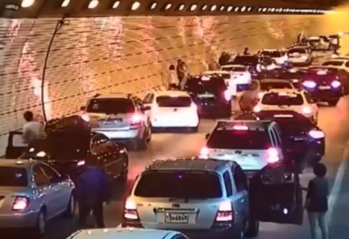 Saobraćajna nesreća u tunelu