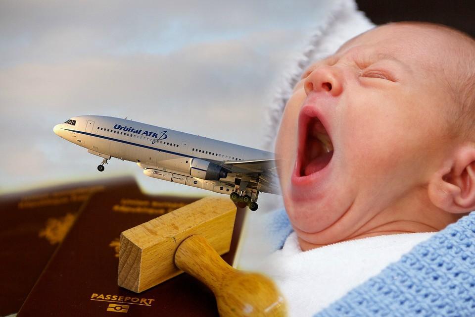 Beba rođena u avionu