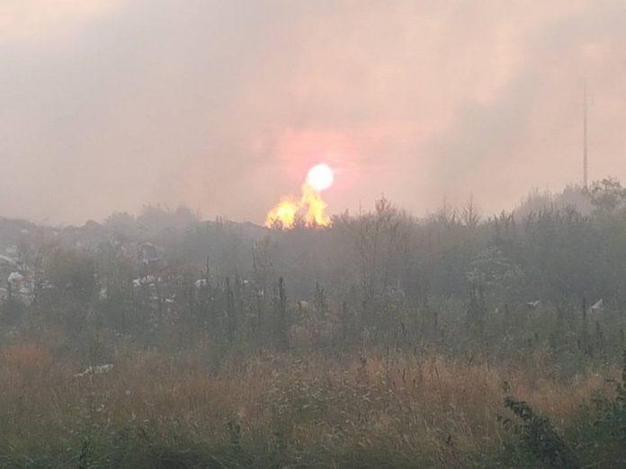 Požar u deponiji u Kačarevu