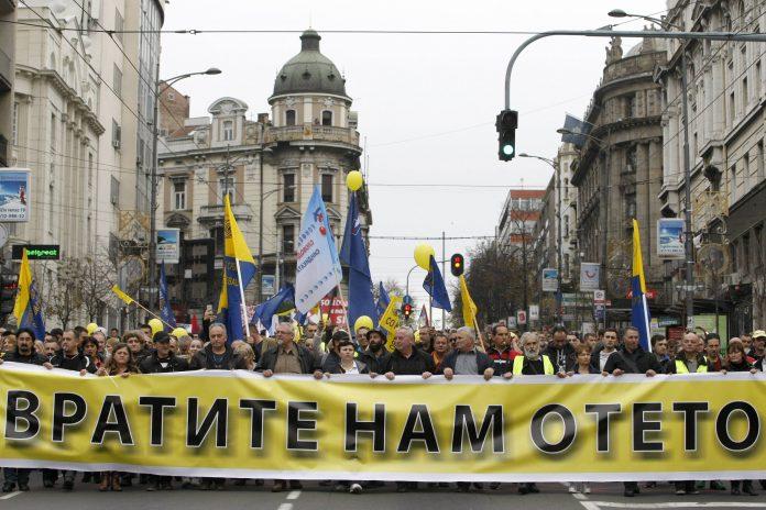 Protest radnika Pošte Srbije