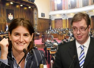 Skupština - Brnabić - Vučić