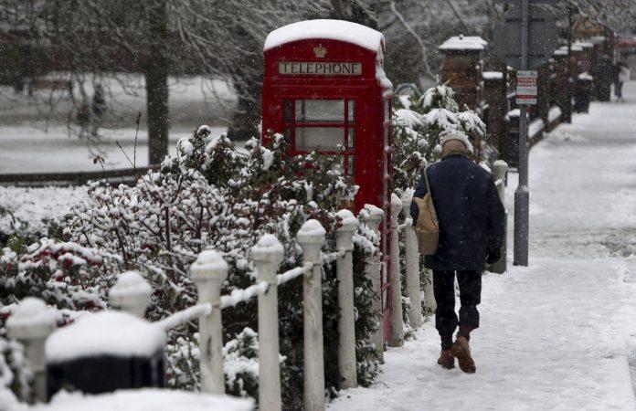 Sneg u Velikoj Britaniji