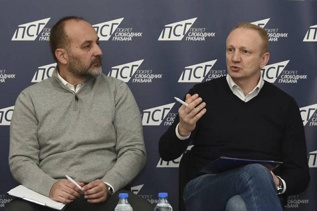 Dragan Djilas i Saša Janković