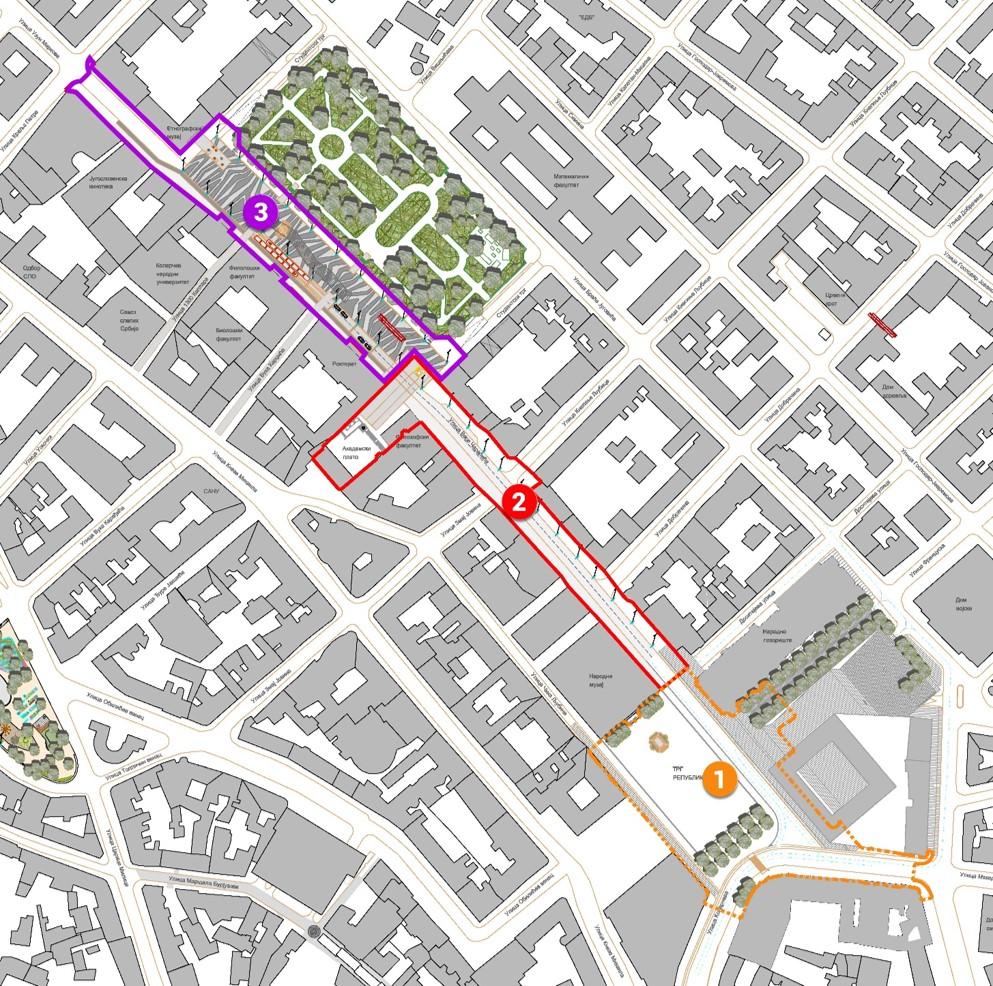 trg republike beograd mapa NOVI RADOVI U CENTRU: Ovako će izgledati Trg republike, Vasina  trg republike beograd mapa