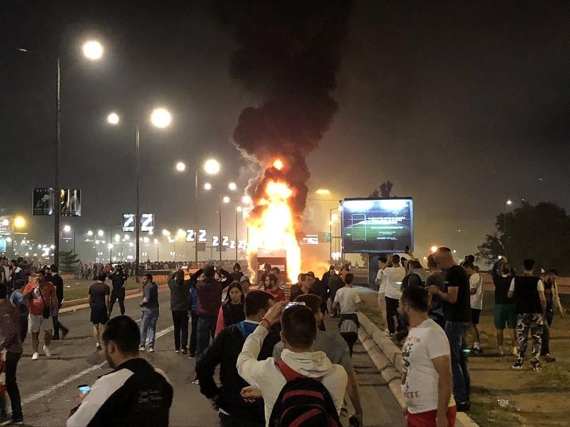 Zapalio se autobus